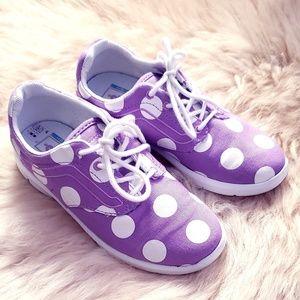VANS Kids Purple & White Polka Dot Lace Up Shoes